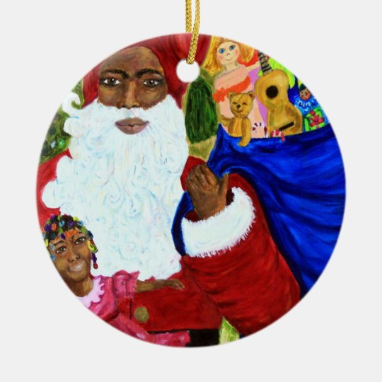 Black Santa Christmas Ornaments - Xmas Decor Gifts