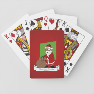 Black Santa Claus Cartoon Playing Cards