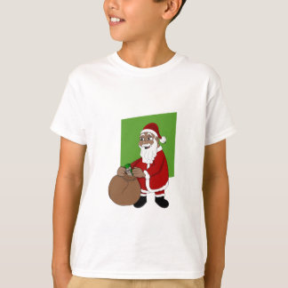 Black Santa Claus Cartoon T-Shirt