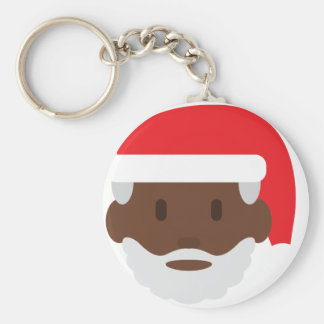 black santa claus emoji key ring