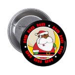 Black Santa Claus with Toy Sack Button