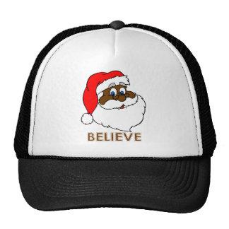 Black Santa Trucker Hat