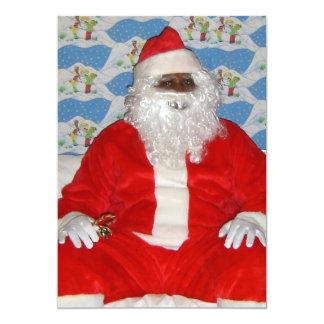 Black Santa Personalized Announcements