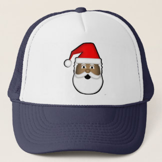 Black Santa Trucker's Hat