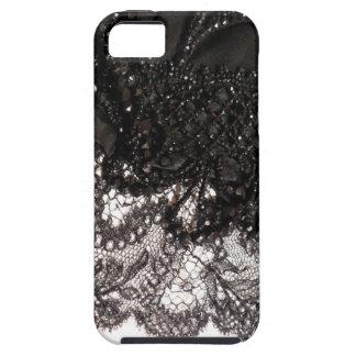 Black Satin Lace iPhone 5 Case