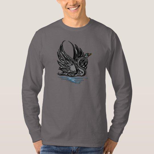 Black Satin Swan T-Shirt