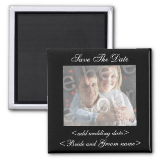 Black Save The Date Photo Magnet