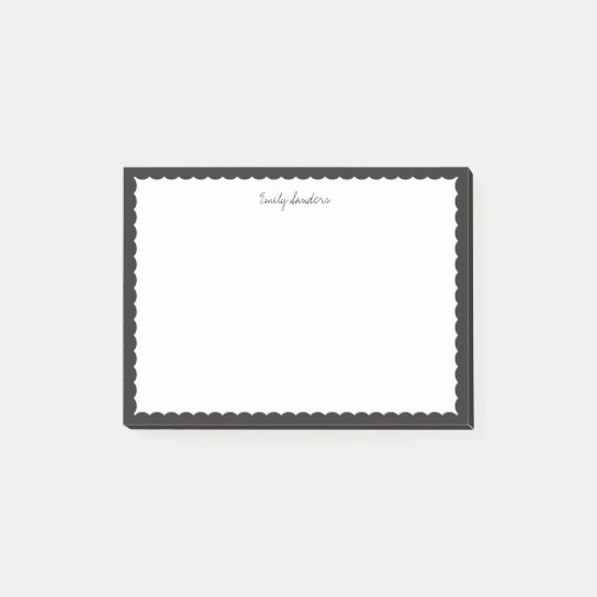 Black Scalloped Border Polka Dot Post-it® Notes