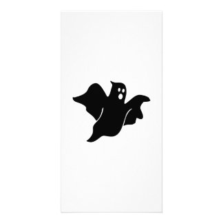 Black scary ghost picture card