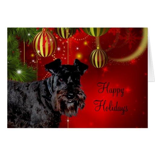 Black Schnauzer Christmas Card