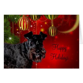 Black Schnauzer Christmas Greeting Card