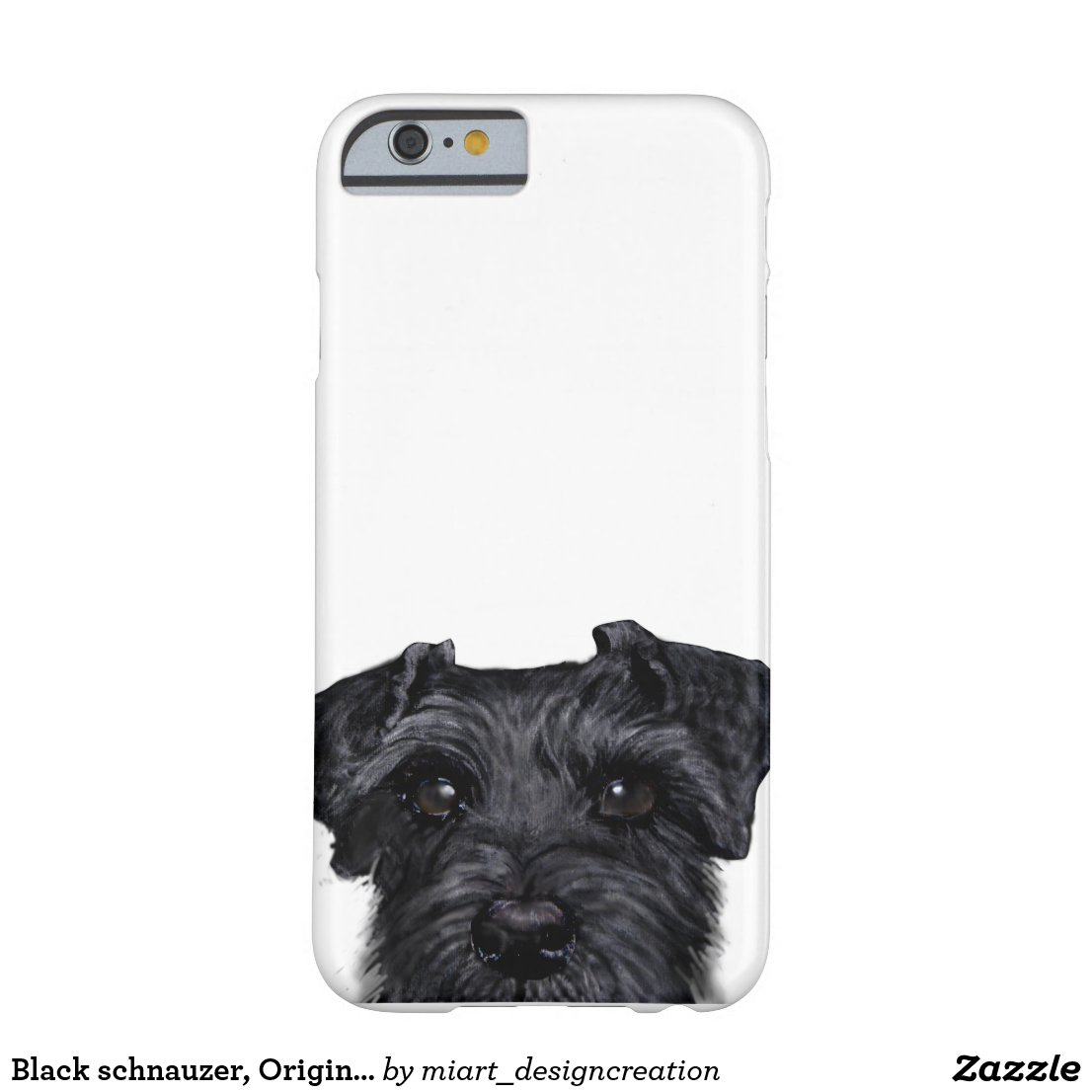 Black schnauzer iPhone Case