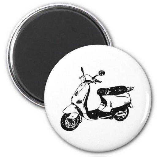 Black Scooter Magnets