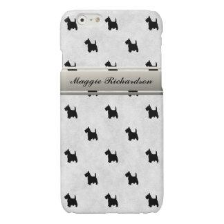 Black Scottie Dog Scottish Terrier Custom Name iPhone 6 Plus Case