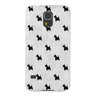 Black Scottie Dogs Tile Pattern Galaxy S5 Cover