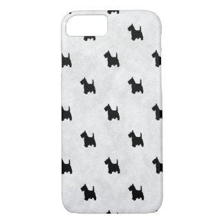 Black Scottie Dogs Tile Pattern Pet Lover iPhone 8/7 Case