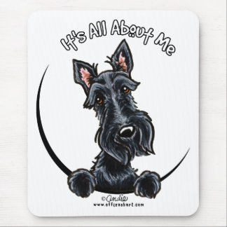 Black Scottie IAAM Mouse Mat