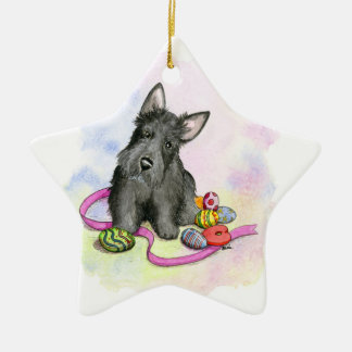Black Scottie ornament