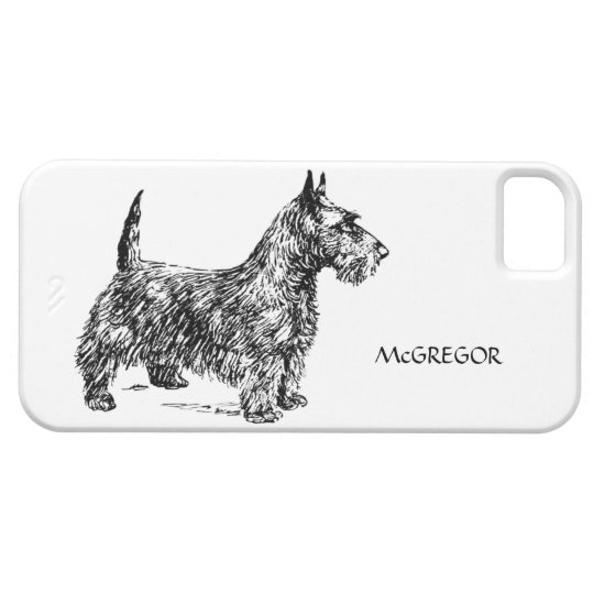 Black Scottie Scottish Terrier Dog Breed Custom Barely