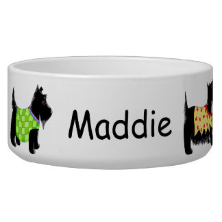 Black Scottie Terrier Dogs Name Personalized
