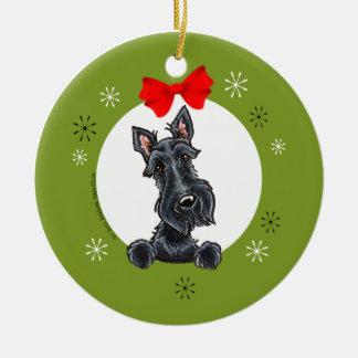 Black Scottish Terrier Christmas Classic Christmas Ornament