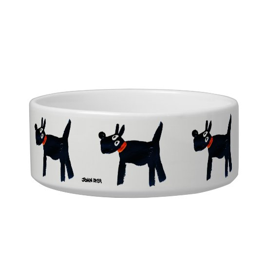 Black Scotty Dog Bowl by artist John Dyer