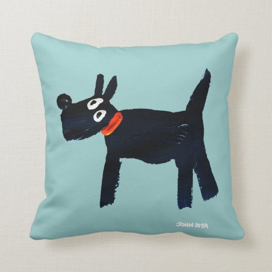 Black Scotty Dog cushion by John Dyer -