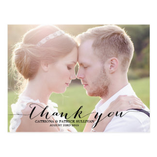 Custom Wedding Thank You Postcards | Zazzle.co.uk