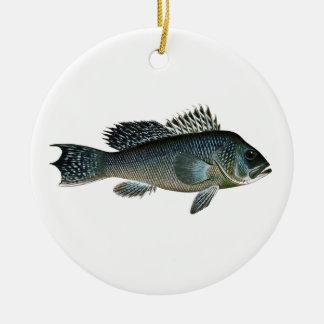 Black Sea Bass Christmas Ornament