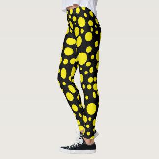 Black Sea of Yellow Bubbles Leggings