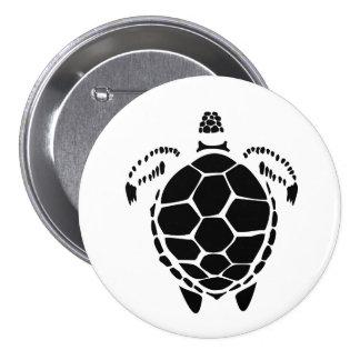 Black Sea Tortoise Shell 7.5 Cm Round Badge