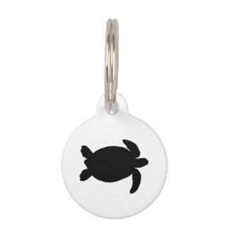 Black Sea Turtle Pet ID Tag
