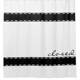 Black seam border + your ideas shower curtain
