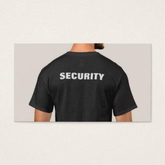 Black Security Shirt Business Card