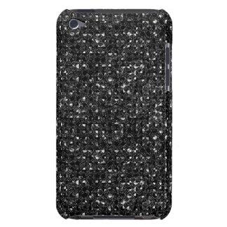 Black Sequin Effect  iPod Case-Mate Case