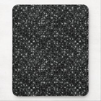 black sequin effect mousepad