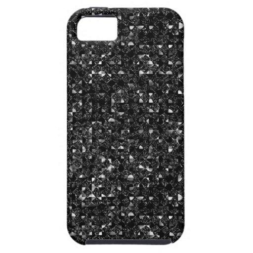Black Sequin Effect Phone Cases iPhone 5 Cases