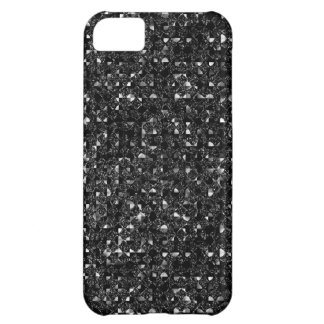 Black Sequin Effect Phone Cases iPhone 5C Case