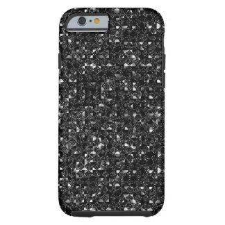 Black Sequin Effect Phone Cases Tough iPhone 6 Case