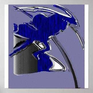 "black shadow ""black bird"" blue tiger poster"