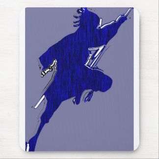 """black shadow """"black bird"""" in blue tiger mouse pad"""