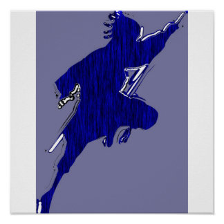 black shadow  blue tiger poster