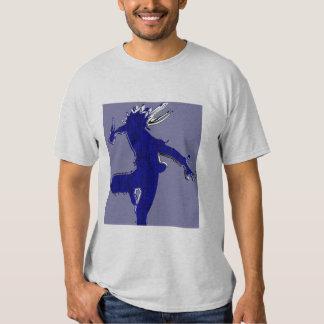 black shadow side kick T shirt