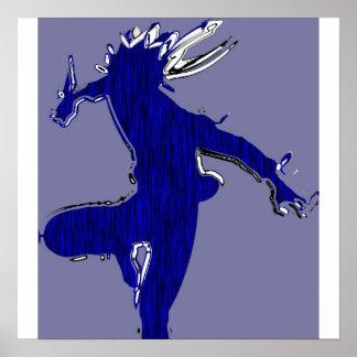 black shadow sidekick 2 blue tiger poster