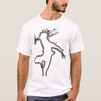 black shadow white hot thermal T-Shirt