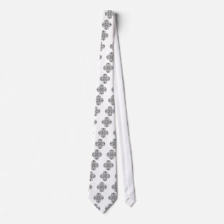 black shamrock celtic knot tie