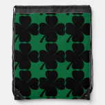 Black Shamrock Lucky Irish Four Leaf Clovers Rucksacks