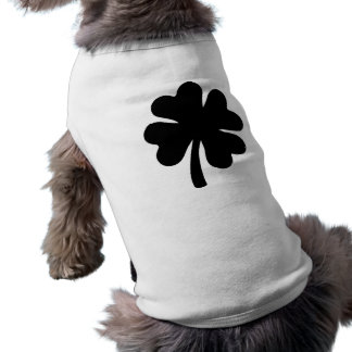 Black shamrock sleeveless dog shirt
