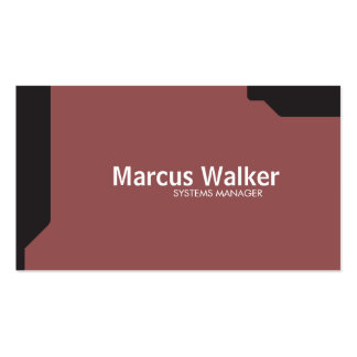Black Shapes Brick Red Pack Of Standard Business Cards