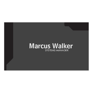 Black Shapes Dark Gray Pack Of Standard Business Cards